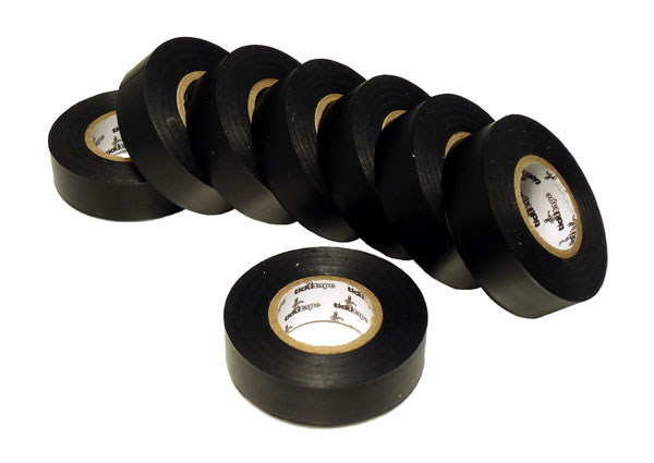 PVC electrical insulation tape, pack of 8 rolls
