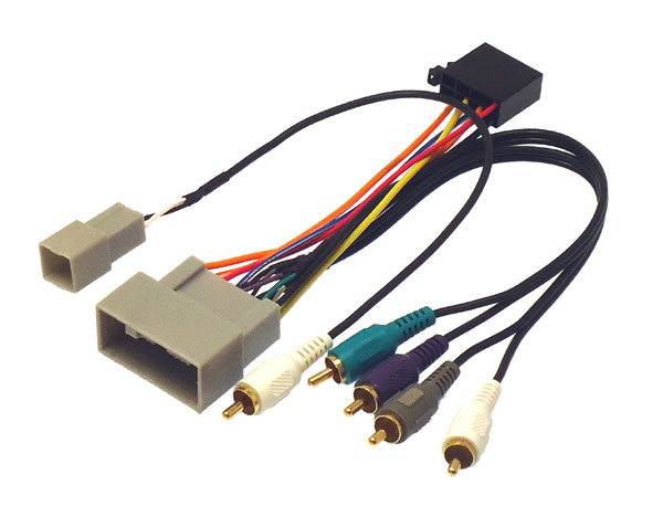 Honda Civic, CR-V  harness with RCA for OE amp (for cars without steering controls)