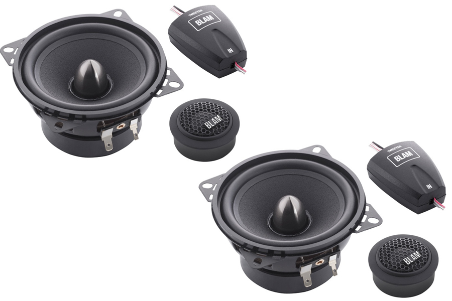 BLAM Relax 100RS 100mm (4inch) Hi-efficiency 2ohm, 2-Way Component speakers (PAIR)