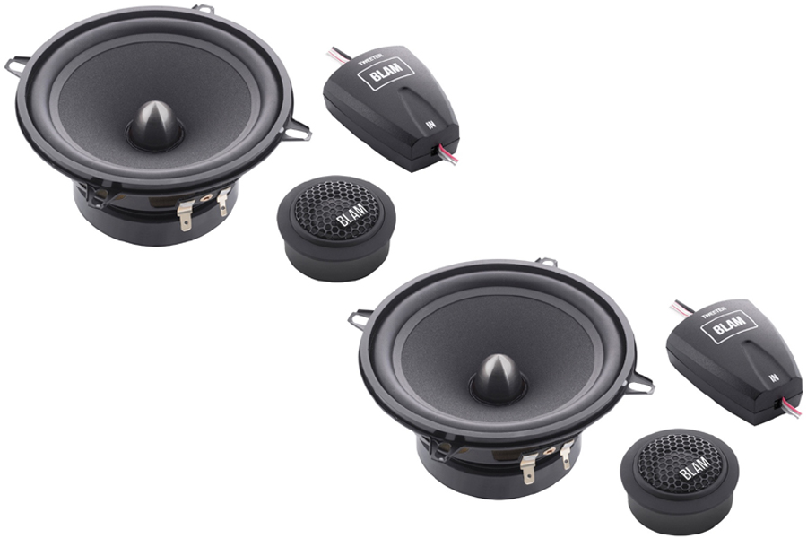 BLAM Relax 130RS 130mm (5.25inch) Hi-efficiency 2ohm, 2-Way Component speakers (PAIR)