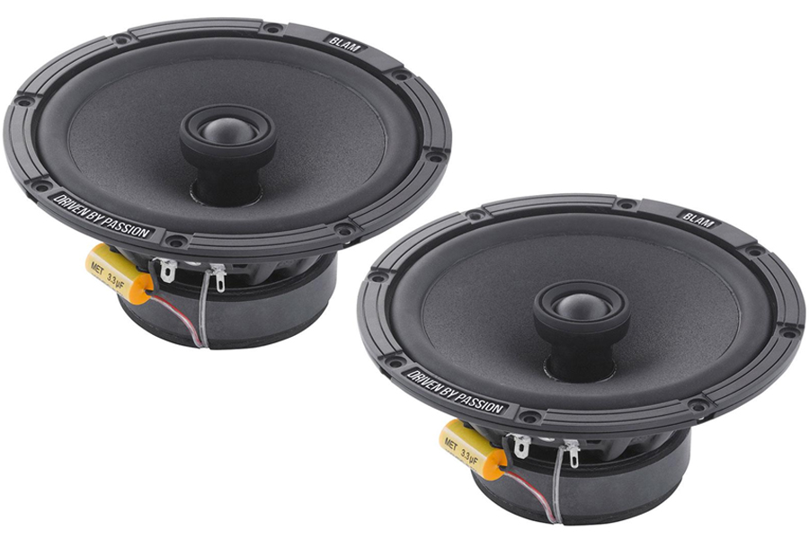 BLAM Relax 165RC 165mm (6.5inch) Hi-efficiency 2ohm, 2-Way Coaxial speakers (PAIR)