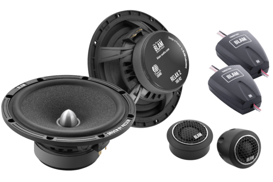 BLAM Relax 165RS 165mm (6.5inch) Hi-efficiency 2ohm, 2-Way Component speakers (PAIR)