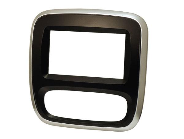 Vivaro Trafic double din fascia with silver trim