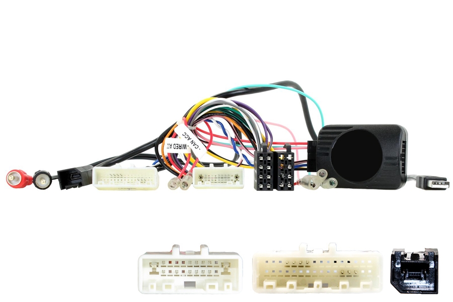 Nissan Qashqai 14. Visia (without NAV) SWC interface (20 & 32 pin connectors)