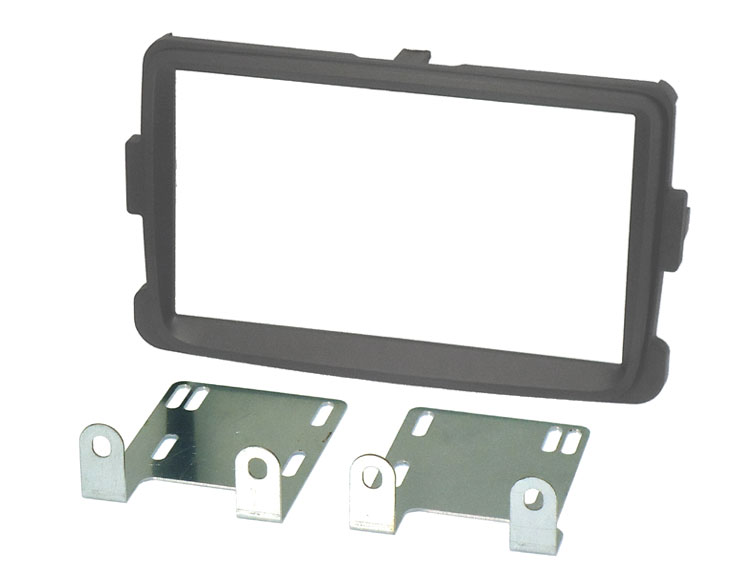 Dacia Lodgy, Dokker, Duster (2012 Onwards) Double DIN Fascia adapter kit (GREY)