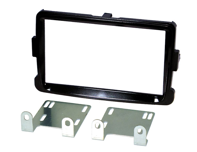 Dacia Lodgy, Dokker, Duster (2012 Onwards) Double DIN Fascia adapter kit (GLOSS BLACK)