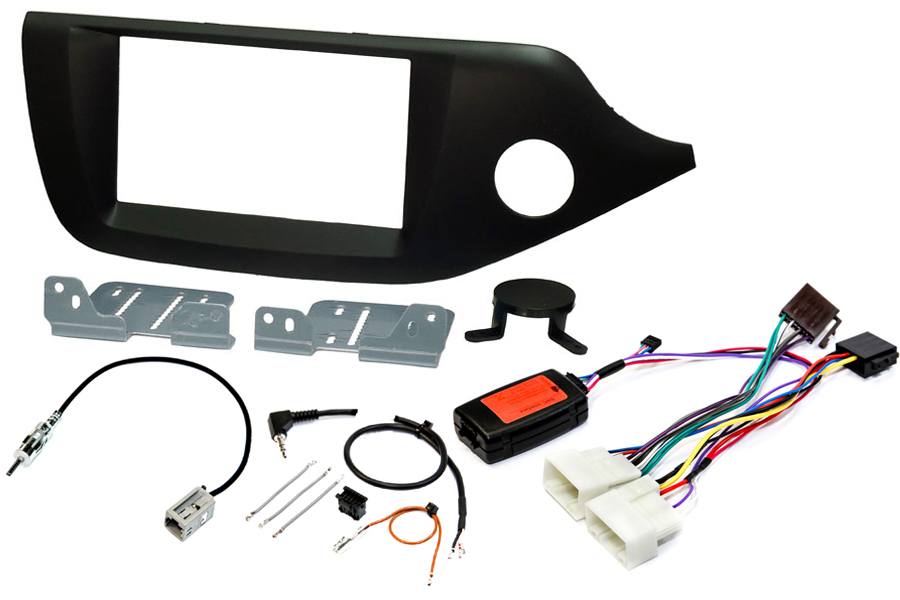 Kia Cee'd 2012 matt black radio replacement kit