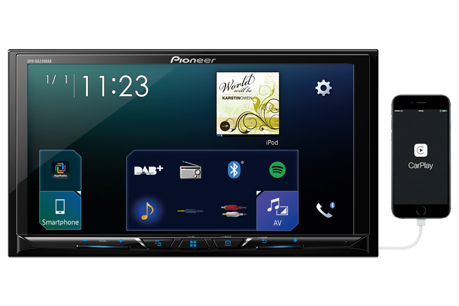 Pioneer SPH-DA230DAB double din stereo head-unit with Car Play and Android Auto