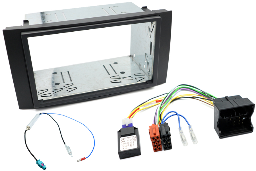 VW T5, Touareg CAN igntion double din fitting kit