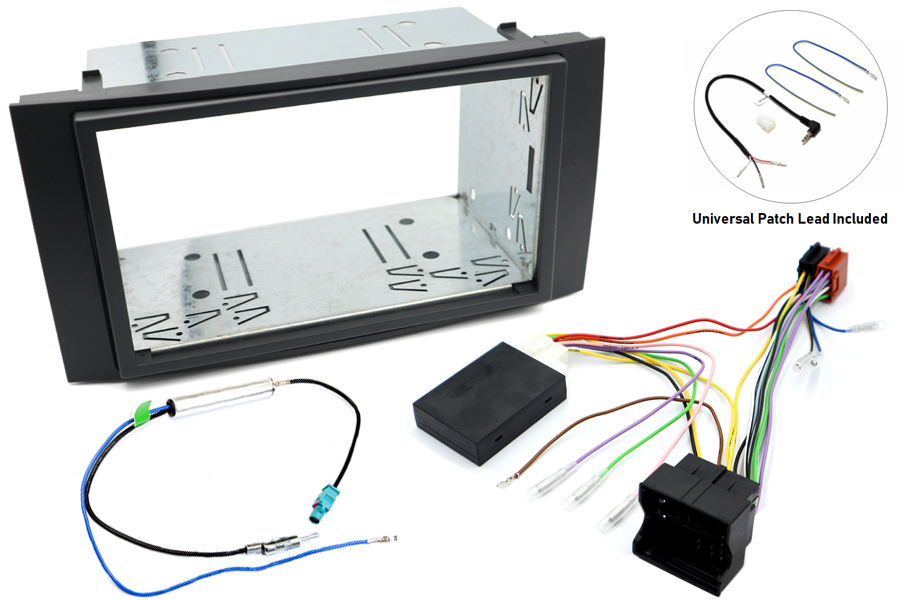 VW Touareg double din fitting kit with SWC