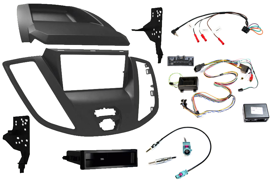 Ford Transit 2013> double din stereo fitting kit, with display