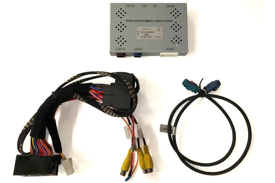 Peugeot Citroen front and rear camera interface