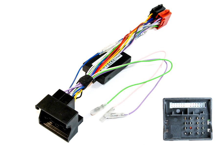 Porsche Quadlock CANbus steering control interface and radio adapter cable