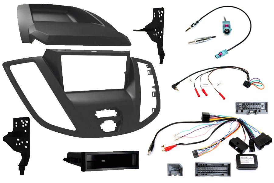 Ford Transit Euro 6 2017> complete double din radio fitting kit