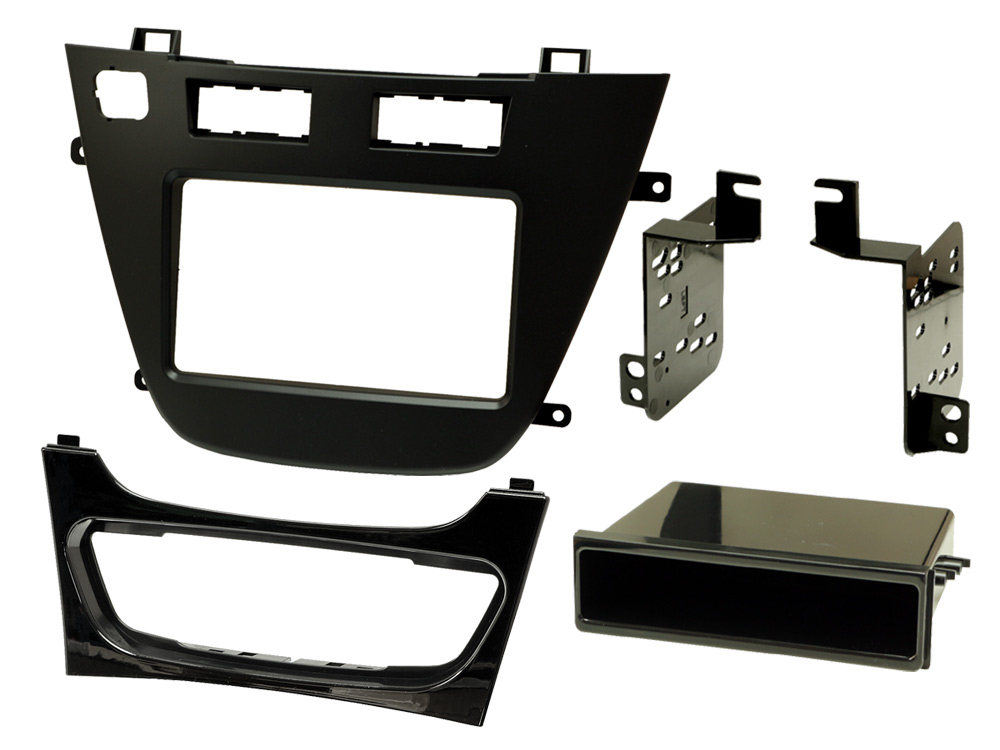 Vauxhall Insignia single and double DIN radio fascia adapter panel, with ECO button