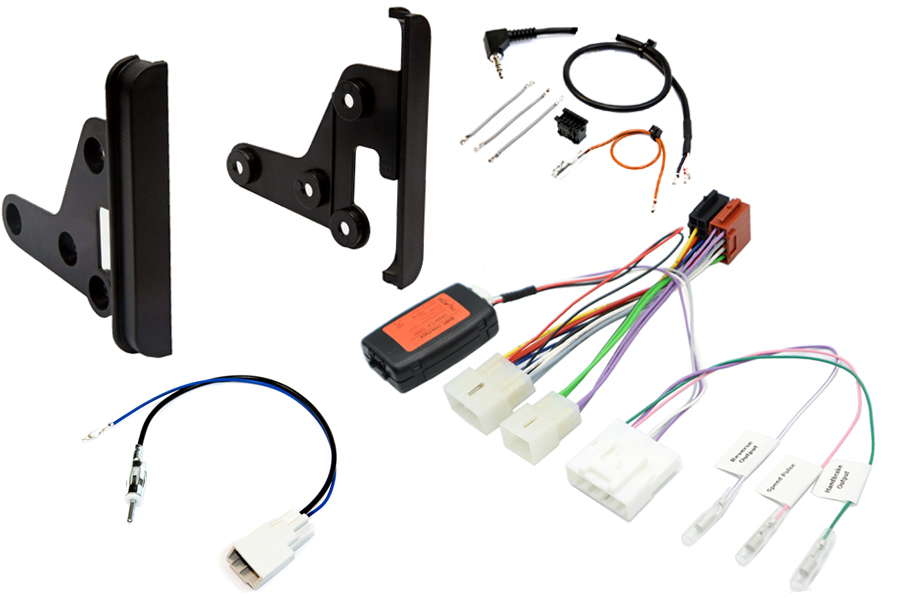 Toyota Avensis, Land Cruiser double DIN stereo fitting kit with steering control interface