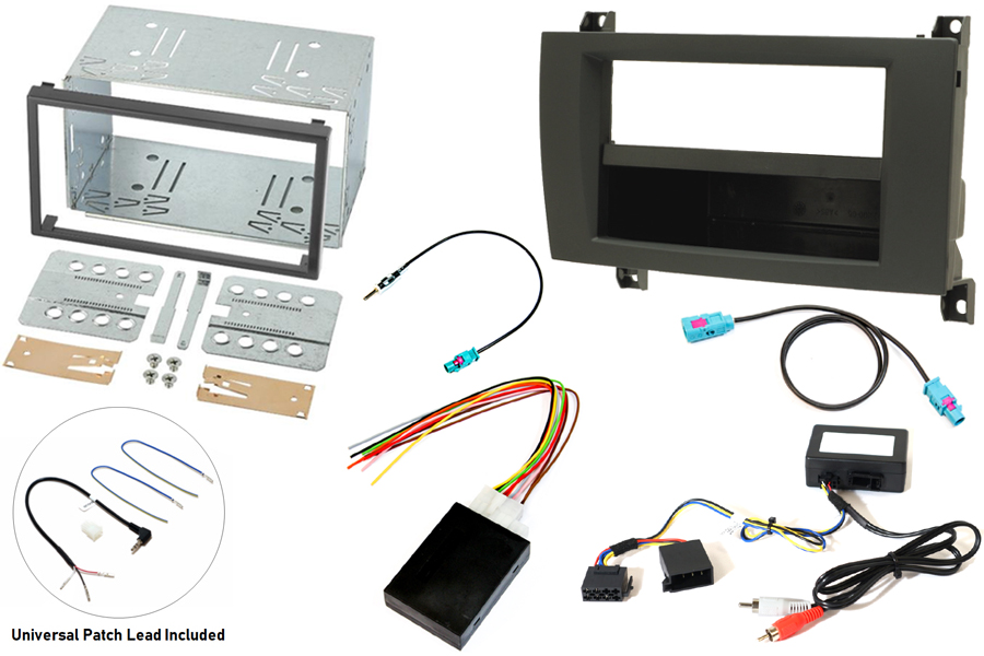 Mercedes SLK R171 04-08 with COMAND NTG1 single and double DIN stereo fitting kit