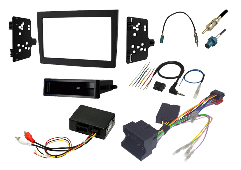 Porsche 987 and 997 stereo fitting kit with steering control interface and Bose retention