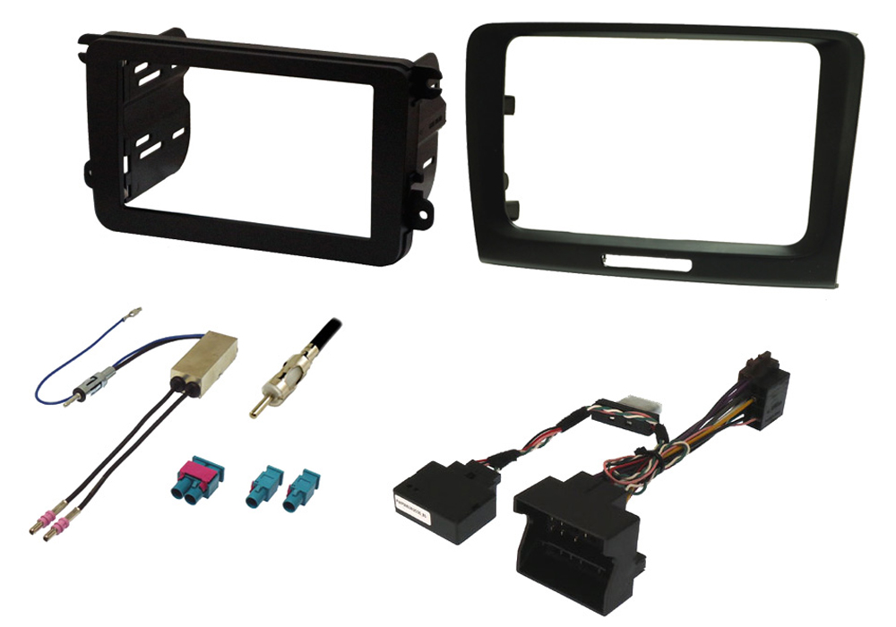 Skoda Superb 08-15 single and double din fitting kit, with CANbus ignition