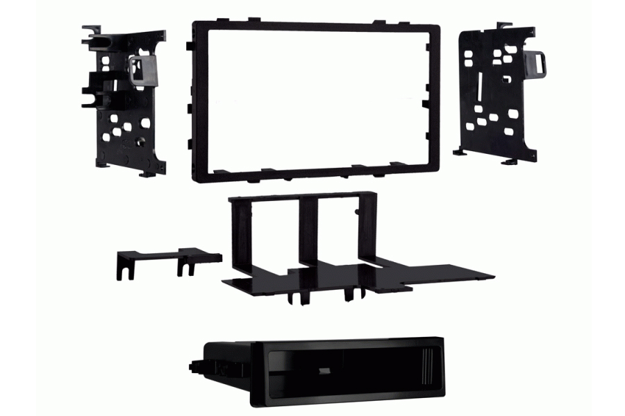 Honda Integra and Prelude single and double din radio fascia adapter panel