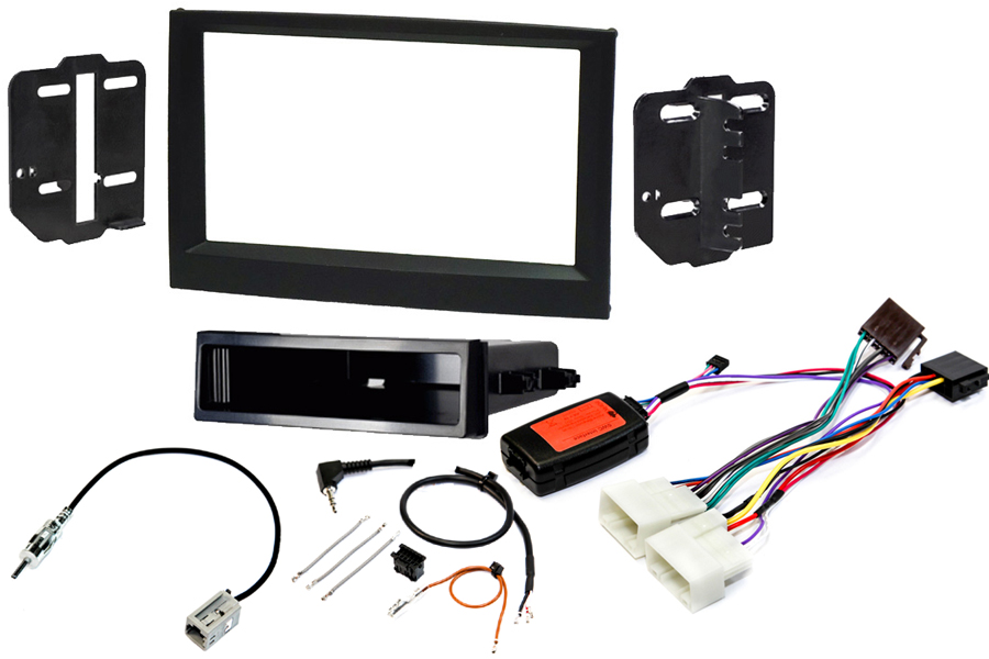 Kia Sportage 2016> single and double din stereo fitting kit with steering control interface