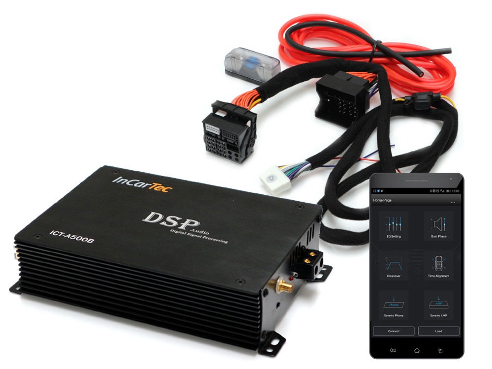 InCarTec 5 channel DSP audio amplifier with Bluetooth direct streaming and App