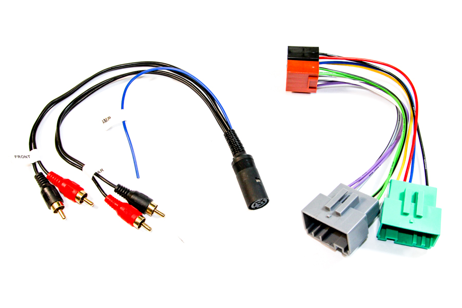 Volvo V70 HU-6 and HU-8 radio replacement ISO and phono adapter cable