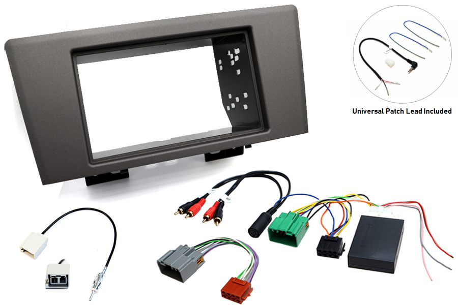 Volvo V70 00-05 single and double din stereo fitting kit with steering control interface
