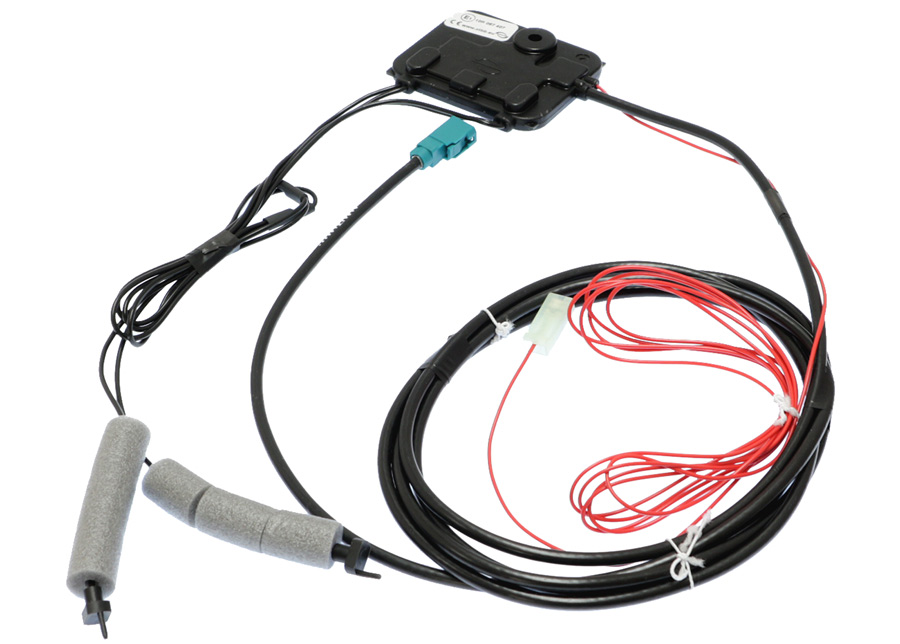 FM Hidden amplified antenna for plastic roofs with Fakra connector