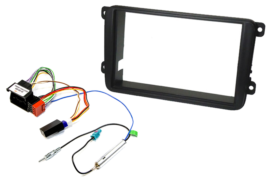 Volkswagen double din car stereo upgrade fitting kit for CANbus ignition