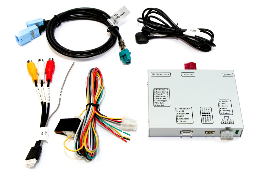 Freelander 2, Discovery 3, Range Rover Sport L320 front/rear view camera and video input interface
