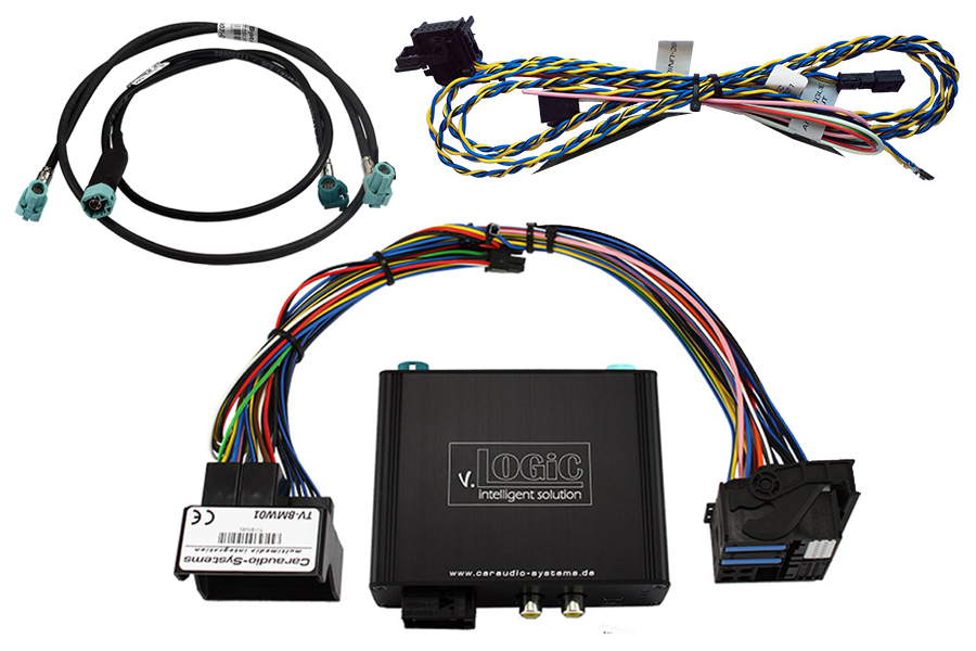 v.Logic V5 front and rear view camera interface for BMW F-Series with CIC Navi or radio PNP