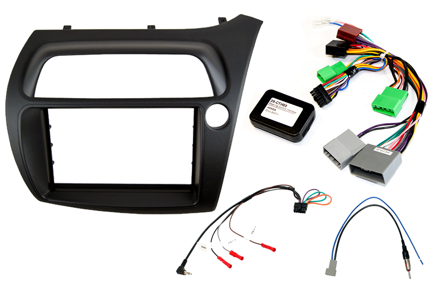 Honda Civic 2006> double DIN car stereo upgrade fitting kit (Right Hand Drive)
