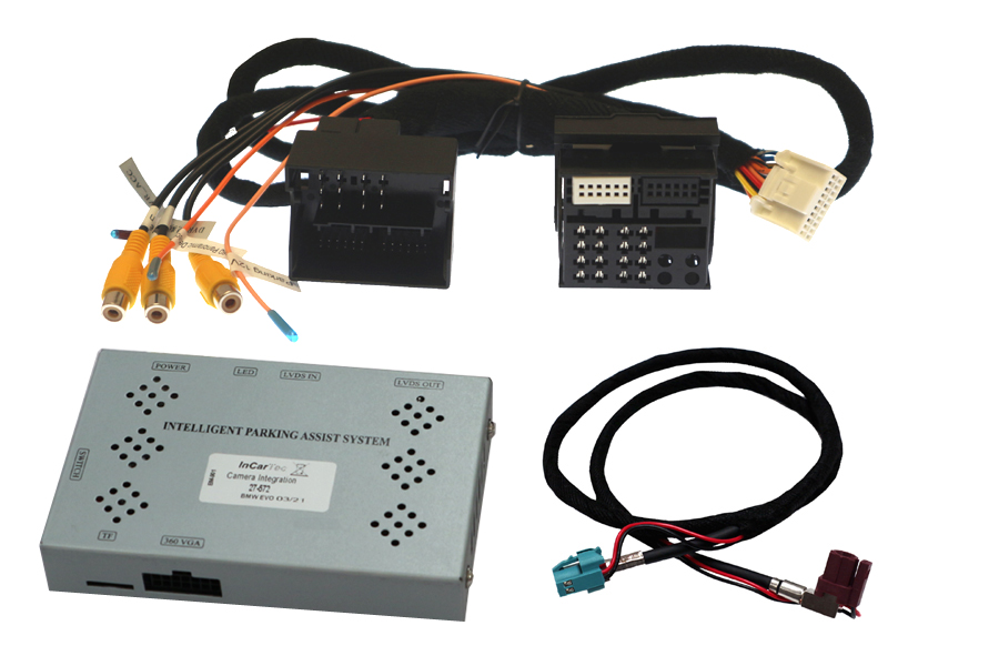"""Add front and/or rear view camera interface for BMW with EVO ID5/ID6 systems (6.5/8.8/10.25"""")"""