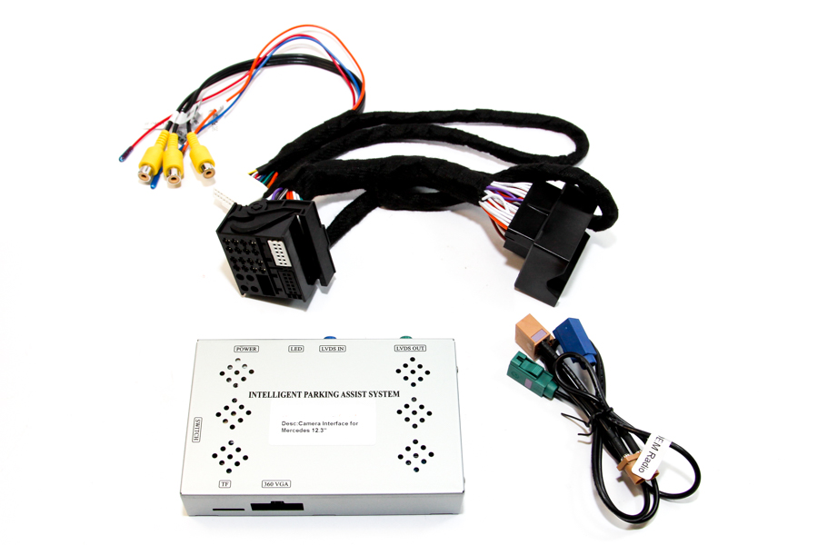 Add front and/or rear camera interface for Mercedes Benz NTG 5.5