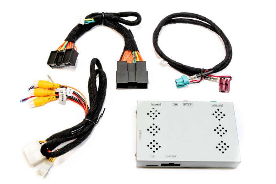 """Add front and/or rear view camera interface for Land Rover with 10.25"""" Harman system (Touch Pro)"""