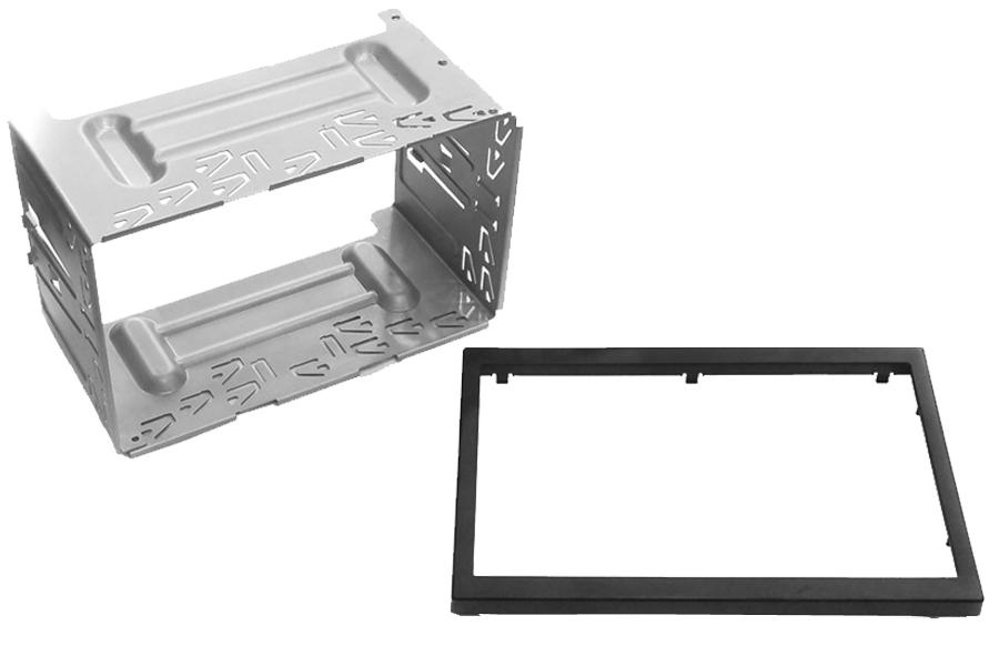 Pioneer stereo Double Din metal cage with Trim Panel
