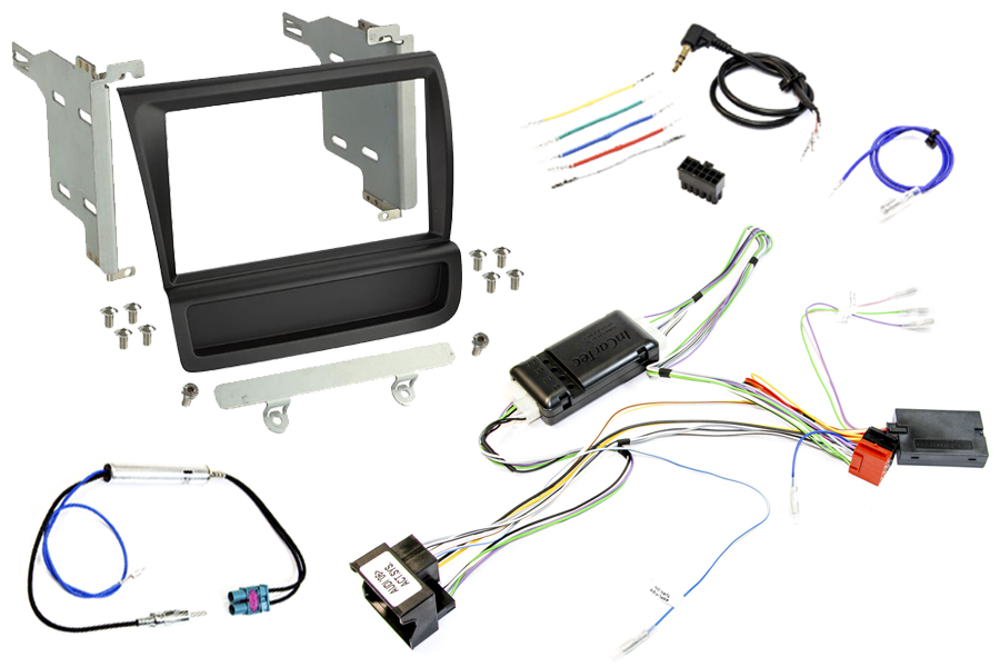 Audi R8 (2007-2015) LEFT HAND DRIVE Complete Double DIN stereo upgrade fitting kit