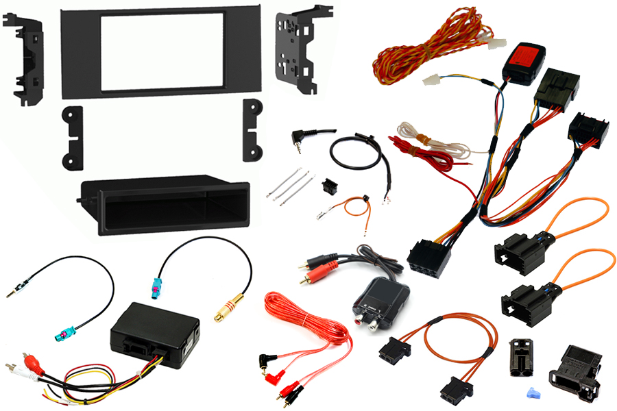 Range Rover L322 Vogue 05-10 Double DIN fitting kit with high line DSP/ premium Logic 7