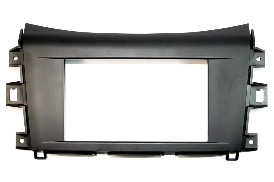 Nissan Navara 2015> double din radio fascia adapter panel (Matt Black)
