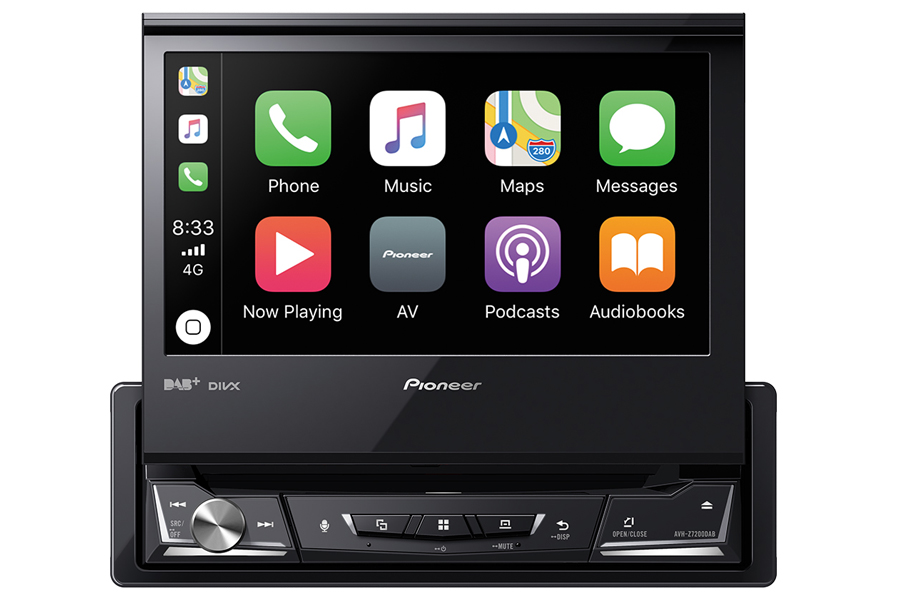 Pioneer AVH-Z7200 single DIN multimedia player with Carplay and 7 inch foldable display