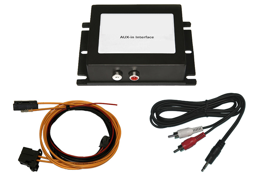 Most AUX In interface for Audi, BMW, Mercedes and Porsche cars with OEM navigation systems