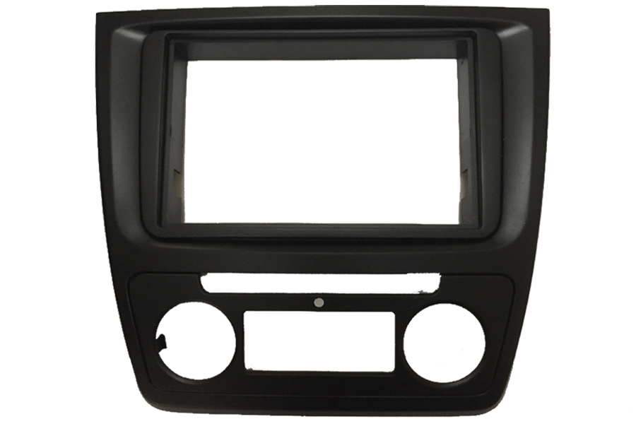 Skoda Yeti 2014 onwards Double Din radio fascia adapter panel (Auto Air Con)
