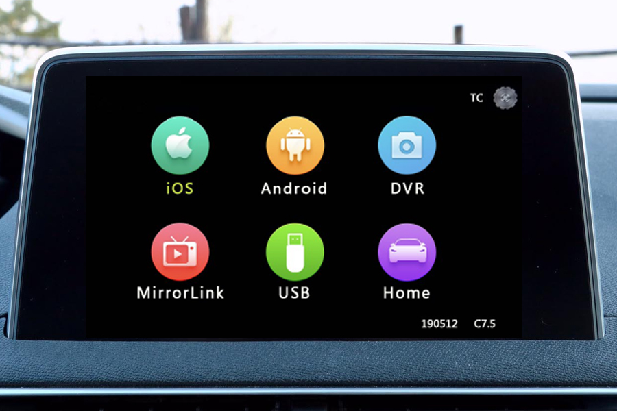 Smartphone/ Camera integration for Peugeot/ Citroen cars with NAC systems