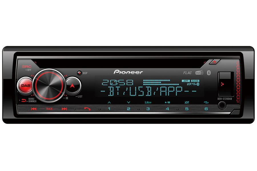 Pioneer DEH-S720 Single DIN car stereo with DAB and Bluetooth