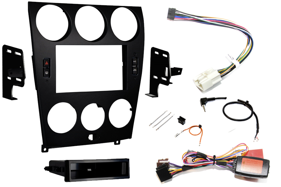 Mazda 6 2006-2008 Single Double DIN Fitting Kit Black (incl. climate control retention)