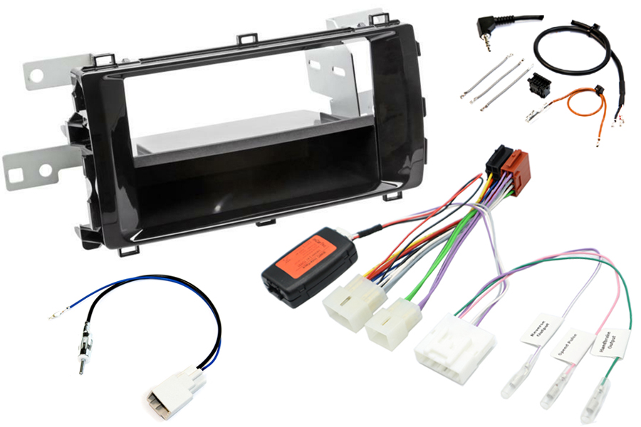 Toyota Auris 2013> complete stereo upgrade fitting kit (Gloss Black)