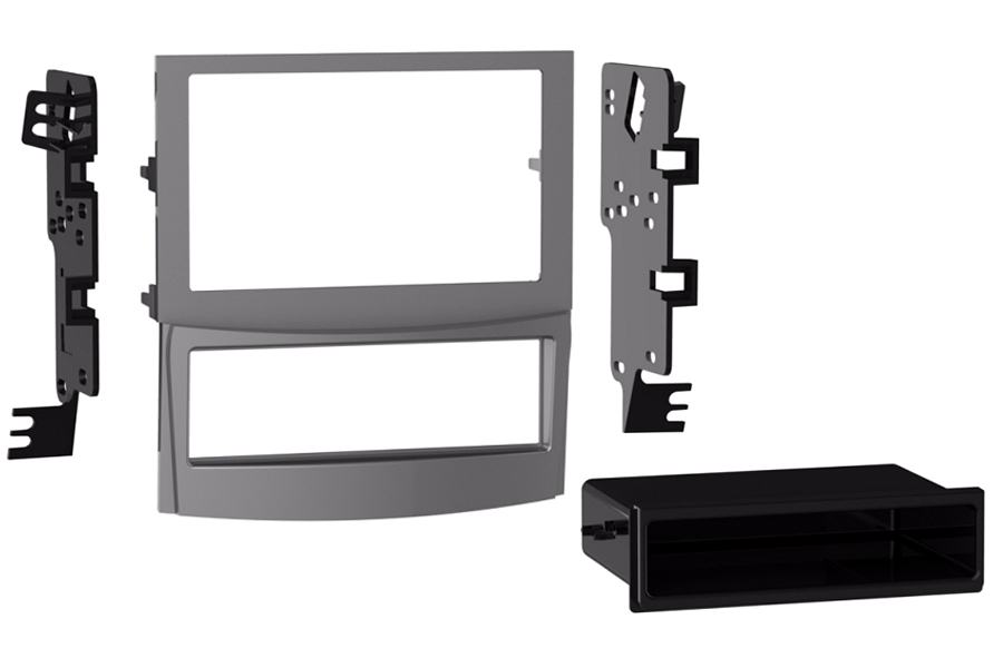 Subaru Outback / Legacy 2010 - 2012 double DIN fascia Silver (WITH FACTORY NAV)