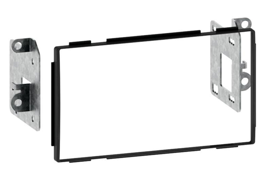 Nissan Qashqai (2007-2013) Double DIN car radio fascia adapter panel (MATT BLACK)
