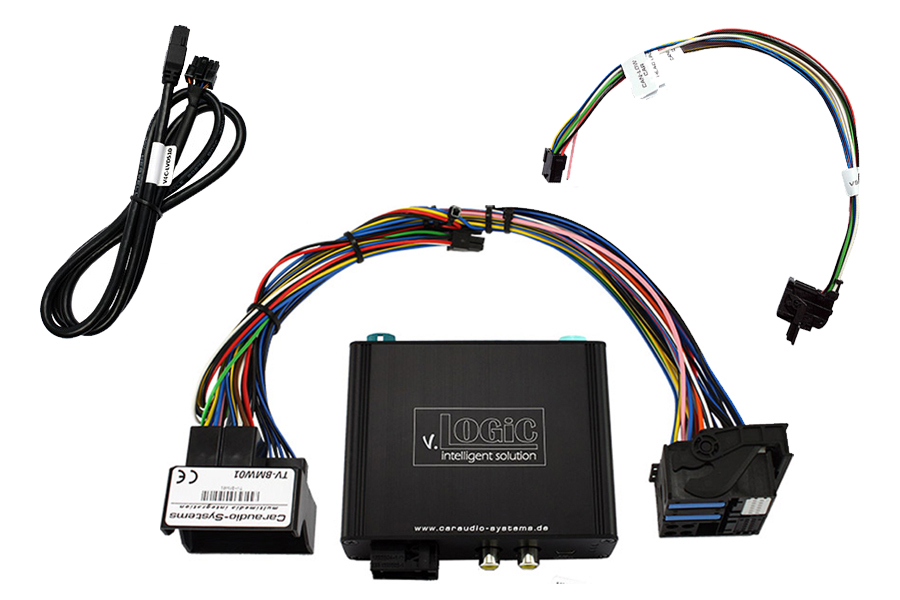 v.Logic V5 front and rear view camera interface for BMW E-Series with CCC navi system or radio